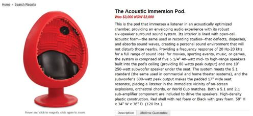 acoustic immersion pod