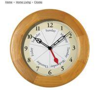 day of week clock
